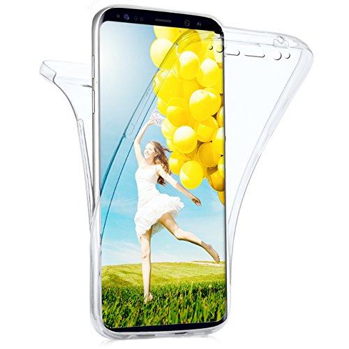 MoEx Samsung Galaxy S8 Plus Hülle Silikon Transparent 360 Grad [OneFlow Double Side Cover] Dünne Schutzhülle Slim Handyhülle für Samsung Galaxy S8+ Plus Case Klar Silikonhülle TPU