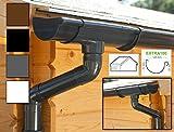 Dachrinnen/ Regenrinnen Set | Satteldach (2 Dachseiten) | Extra100 | in anthrazit, weiß, braun oder schwarz! (Komplettes Set bis 3.50 m, Anthrazit)