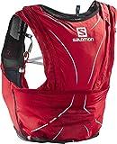 Salomon, Sehr leichte Rucksackweste für Bergläufe, Hiking oder Radfahren, 12 L, 42 x 20 cm, 395 g, ADV SKIN 12 SET, Gr. XL, Rot (Matador/Black), L39263900