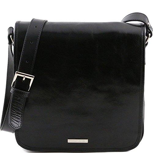 Tuscany Leather - TL Messenger - Borsa a tracolla 1 scomparto Miele - TL141260/3 Nero