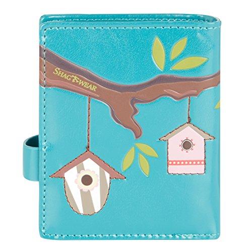 Shagwear portafoglio per giovani donne Small Purse : Diversi colori e design: casetta uccellini turchese/ Bird Houses