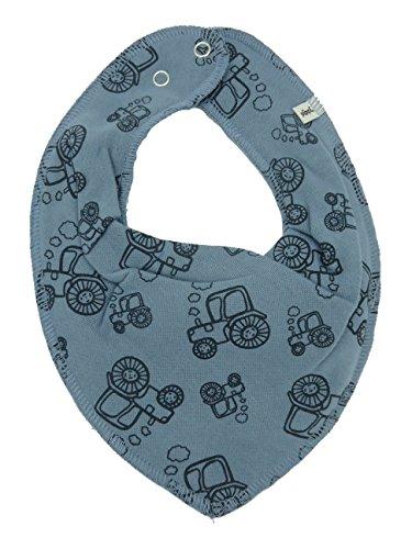 Pippi HALSTUCH Baby Dreieckstuch mit Druckknöpfen aus Baumwolle (Traktoren auf jeansblau)