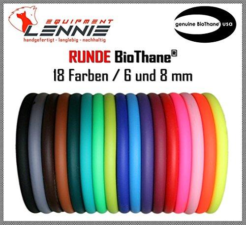 BioThane® Meterware, Beta rund, Ø 6 und 8 mm, viele Farben, 8mm, Blau