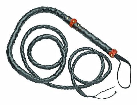 Denix Old West Braided Rawhide Bull Whip, 9-Feet