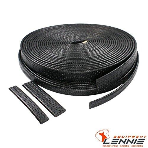 Polstermaterial Meterware / ca. 5 mm dick / verschiedene Breiten [30 mm] / Schwarz mit Profil