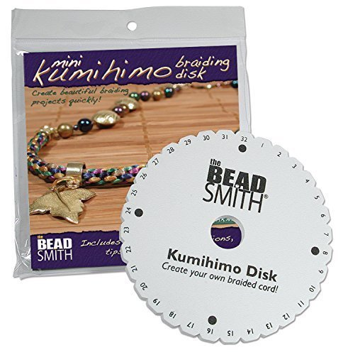 Kumihimo Mini (4.25 inch) Disk, With Instruction Sheet by Beadsmith -