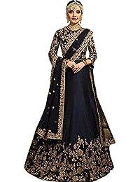 ShreeBalaji Enterprise Women's Silk Multicolor Lehenga Cholis (Nil-Ang001_MultiColour_Free Size)