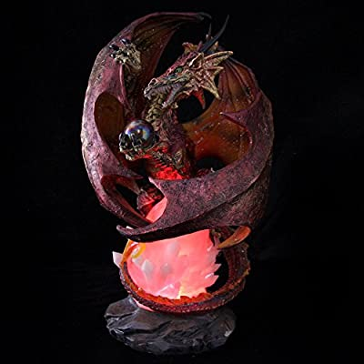 LED Iridescent Orange Fire & Ice Fantasy Dragon 44cm