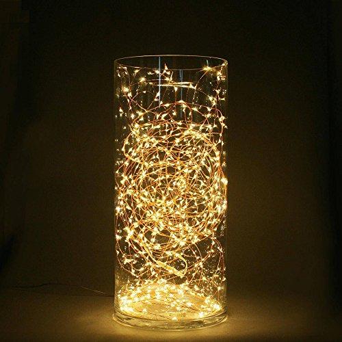 MAXINDA Catena Luminosa 5M Solare Luci della Stringa 100 LED Luce Natalizia Impermeabile di Filo Rame per Giardino, Albero, Natale, Festa, Matrimonio, Balcone, Patio, Decorazione Casa