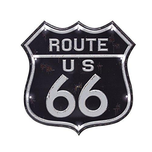 Balvi Rótulo Decorativo Route 66 Luz LED de Larga duración Función táctil Adhesivo Plástico PVC 31cm