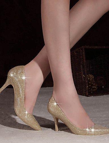 ShangYi Damen - Hochzeitsschuhe - Absätze / Spitzschuh / Geschlossene Zehe - High Heels - Hochzeit / Kleid / Party & Festivität -Rot / Silber / 3in