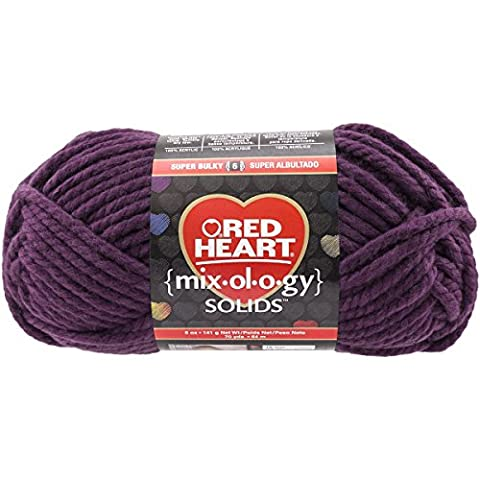 Couches yarnred Cœur Mixology solides yarn-plum, d'autres, multicolore