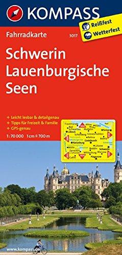 Fahrradkarte: Schwerin - Lauenburgische Seen