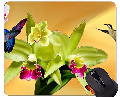 Mousepad Fertigen Sie, Orchideen-weißes Orchideengelb kundenspezifisch an Mousepad