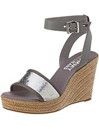 Hilfiger Denim Damen Metallic Wedge Sandal Espadrilles