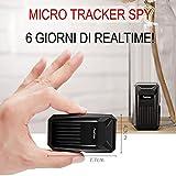 Micro Gps Tracker spia Realtime professionale localizzatore satellitare