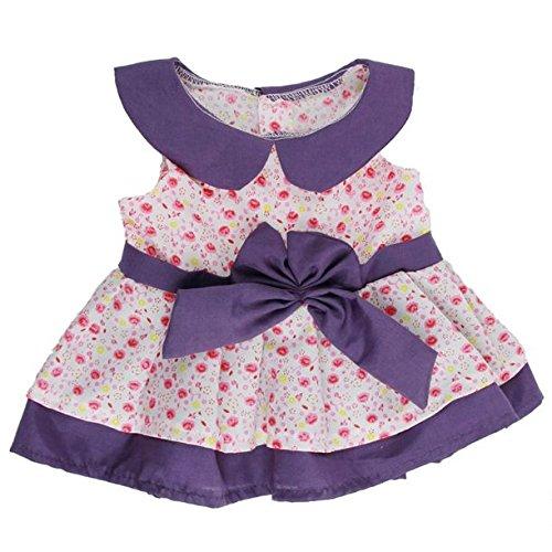 Pink & Violett Daisy Kleid Outfit Bear Clothes für 38,1 -40, 6 cm (40cm) Teddys & Build a Bear