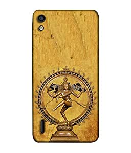 FUSON Designer Back Case Cover for Huawei Ascend P7 (God Religion Aashutosh Bhairav Bholenath Dayalu Devadeva Girijapati)