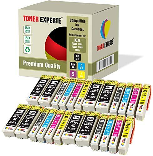 Kit 24 XL TONER EXPERTE Cartucce d'inchiostro compatibili con Epson 33XL Expression Premium XP-530 XP-630 XP-635 XP-640 XP-830 XP-900 XP-540 XP-645 XP-7100 T3351 T3361 T3362 T3363 T3364