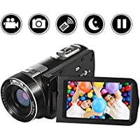 "Camcorder Camera Full HD 1080p Video Camera 24.0MP 18x Digital Zoom 3.0"" LCD 270° Rotation Screen with Remote Control"
