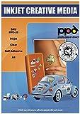 PPD DIN A4 Inkjet Aufkleberfolie selbstklebend transparent, DIN A4 x 10 Blatt PPD-39-10