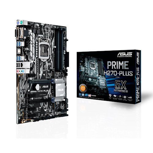 Price comparison product image ASUS PRIME H270-PLUS LGA1151 DDR4 HDMI DVI VGA M.2 H270 ATX Motherboard - Black