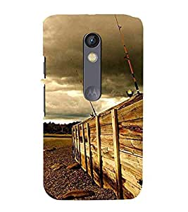 For Motorola Moto X Play black icon ( black icon, nice icon, abstract background ) Printed Designer Back Case Cover By TAKKLOO