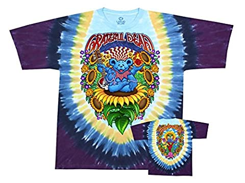 Old Glory homme-Grateful Dead-Guru Bear T-Shirt Tie Dye - Jaune - XX-Large