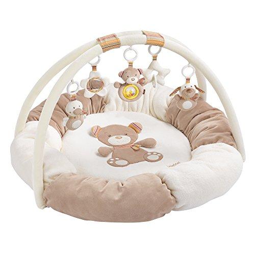 dschungel baby Fehn 160963 3-D-Activity-Nest Rainbow – Besonders weicher Spielbogen mit 5 abnehmbaren Spielzeugen für Babys Spiel & Spaß von Geburt an – Maße: Ø85cm