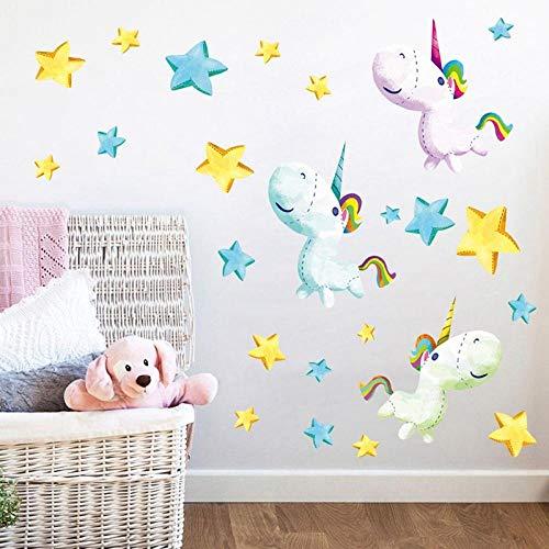 Etiqueta pared Diy Marioneta creativa Unicornio Estrella