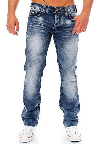 M.O.D Herren Jeans Thomas ash blue 34/36 (Jugendliche 5-pocket-jeans)
