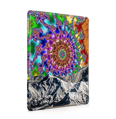 Colourful Trippy Space Swirl Mountains Dünne Rückschale aus Hartplastik für iPad Air 1 Tablet Hülle Schutzhülle Slim Fit Case Cover Glitter Stars-snap