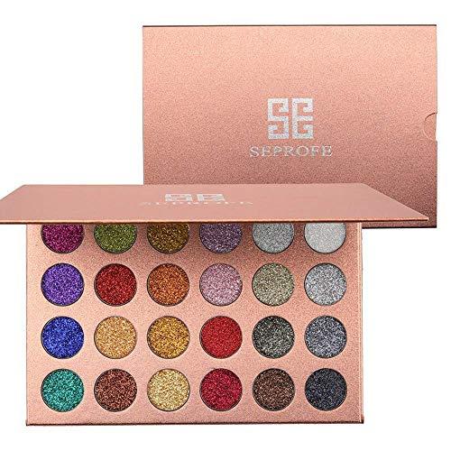 24 Colores Presionados Con Brillos Paleta Sombras
