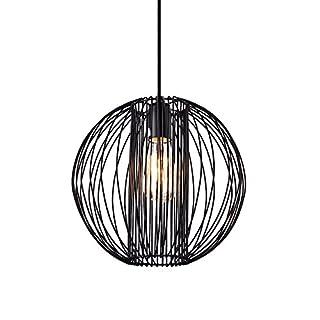 [lux.pro] Design Hängeleuchte schwarz Metall (Höhe inkl Kabel 155,0 cm) - Pendelleuchte