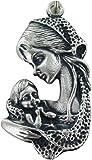 F&A & A Stock: Medalla Virgen Niño de Metal Oxidado MIS. 4x 2cm.