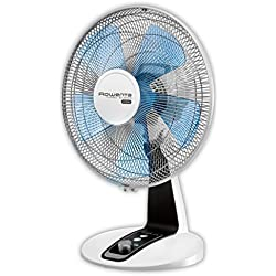 Rowenta VU2630F0 Ventilateur de Table Turbo Silence Extrême 30 cm Silencieux Turbo Boost Oscillation 4 Vitesses 40W Ventilation Bureau Blanc