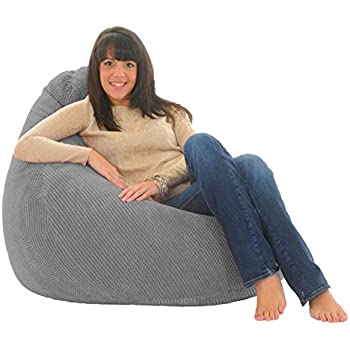 XX L Blue Highback Beanbag Chair Water Resistant Bean Bags For