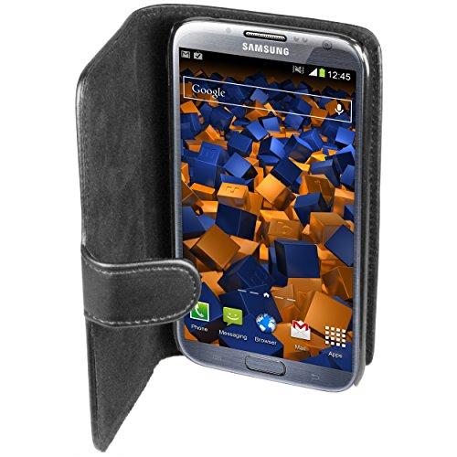 mumbi Tasche im Bookstyle für Samsung Galaxy Note 2 Tasche schwarz
