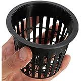 Kungfu Mall 10pcs plastique noir plantation hydroponique maille plante de jardin de paniers de pot net progresser tasse