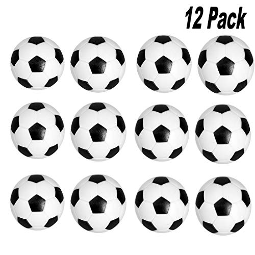 Cojoy Football Table Replacement Foosball Mini Table Soccer Balls for Football Table Games, 32 mm Replacement Foosball, 12 pcs