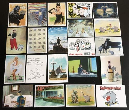 Otto Waalkes 20er-Kunst Postkarten Set by Ottifant Productions