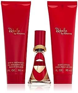 "Rihanna Set ""Rebelle"" Eau de Parfum + Showergel + Bodylotion, 1er Pack"