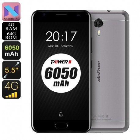 Lager HK pre-ordenar Smartphone Android Ulefone Energie 2-dual-imei, 4g, CPU Octa, 4GB RAM, 1080P, 6050mAh, Cam ( - Cam Der Ram
