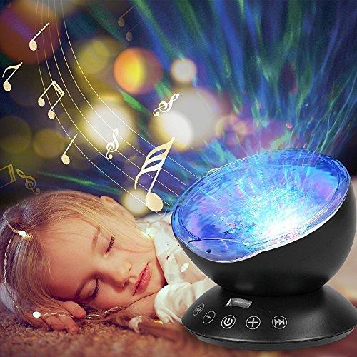 Projektor lampe,HowiseAcc Ozeanwelle Projektor Licht Schlaf Nachtlicht mit Multifunktionale...