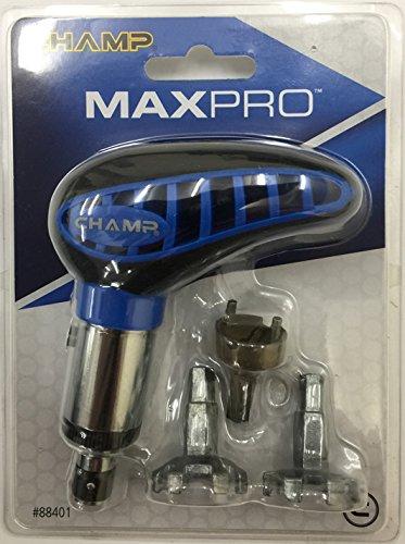 Champ MaxPro - Chiave per tacchetti scarpe da golf colore: Nero/Giallo