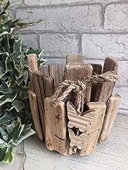 Idea Regalo - Driftwood Wooden Planter Flower Vaso da fiori Farfalla Dettaglio Decorazione nautica