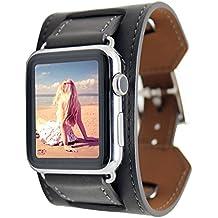 FOTOWELT pour Apple Watch Band, Cuff Bracelet cuir Bracelet Bracelet  poignet de remplacement de bande 094d076344e