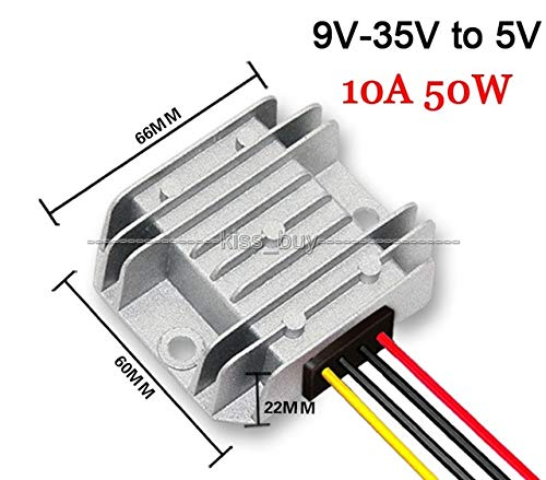 DC12V / 24V to 5V 10A 50W DC - DC Buck Converter Step Down Voltage Regulator Module Waterproof IP68