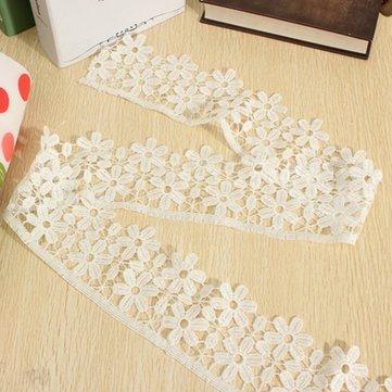 Blume Aufnäher Crochet Stickerei Spitze Band Trim DIY Hochzeit Nähen Craft - Crochet Trim Band