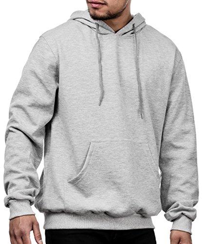 MAG/08 Herren Oversize Kapuzenpullover Hoodie Pullover mit Kapuze (M, Grey Heather) -
